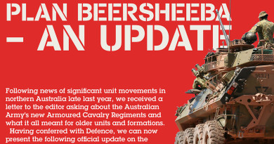 What does Plan Beersheeba mean for Australian armoured units?
