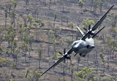 The first of 10 C-27J Spartans arrived in Australia today