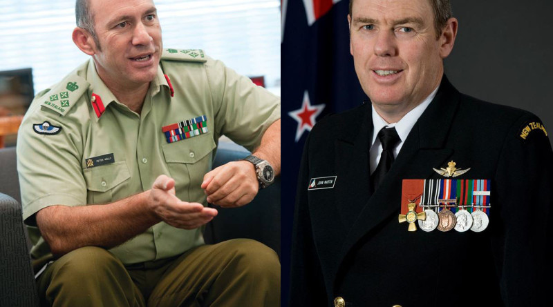 New Zealand's new Chief of Army Peter Kelly and Chief of Navy John Martin.