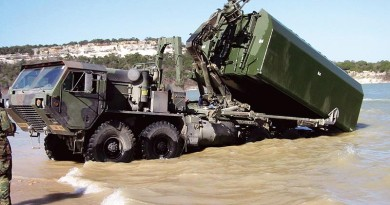 IRB bays are transportable on trucks, railway cars and transport aircrafts or as underslung load of a helicopter. GDELS photos