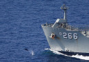 Dolphins accompany returning sailors