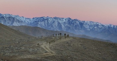Afghan sunrise, Christmas Eve 2015, by Corporal Oliver Carter