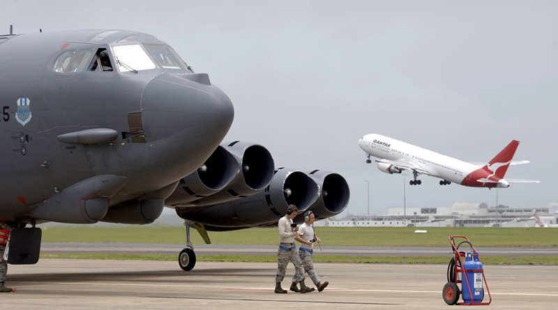 File photo: USAF B-52 in Darwin in 2014. Photo by Leading Aircraftman Terry Hartin