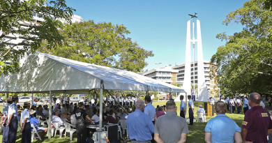 Commemoration Ceremony in Cairns for Catalina A24-25.