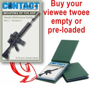 Buy your 40-page viewee twoee empty or pre loaded with CONTACT's Weapon's of the ADF