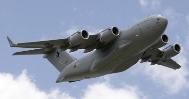 C-17A Globemaster file photo by Flight Sergeant Glen McCarthy