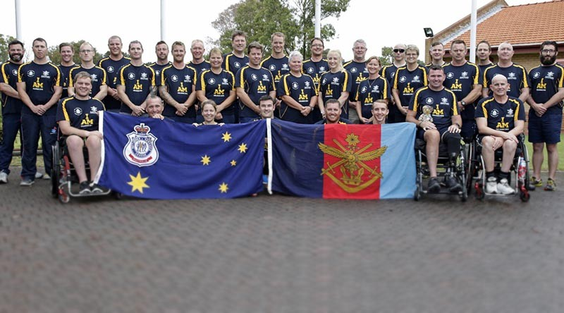 Australian Invictus games athletes comprised of current and ex-serving members at Randwick Barracks, Sydney.