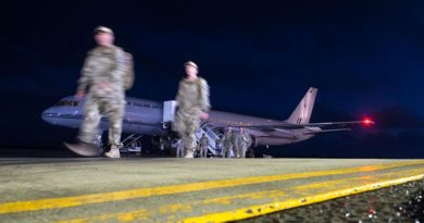 Personnel from the building partner capacity mission in Iraq return to Ohakea Air Force Base.