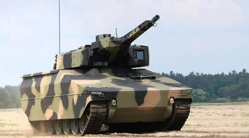 Rheinmetall Lynx in AusCam colour scheme
