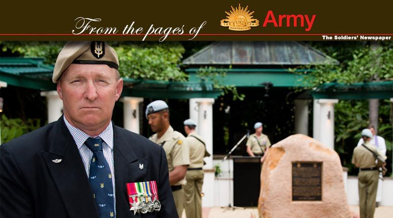 Former Australian Army soldier Corporal Gary Proctor, a survivor of the 1996 Black Hawk helicopter training accident, attends the 20th anniversary commemoration service held in Townsville on 12 June 2016. Photo by Corporal Mark Doran