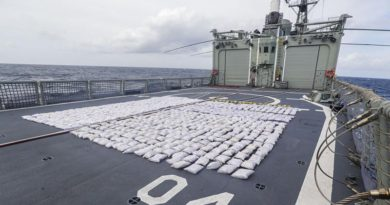 Approximately 952kg of heroin seized by HMAS Darwin during three consecutive vessel boardings off the African Coast. Photo by Able Seaman Sarah Ebsworth