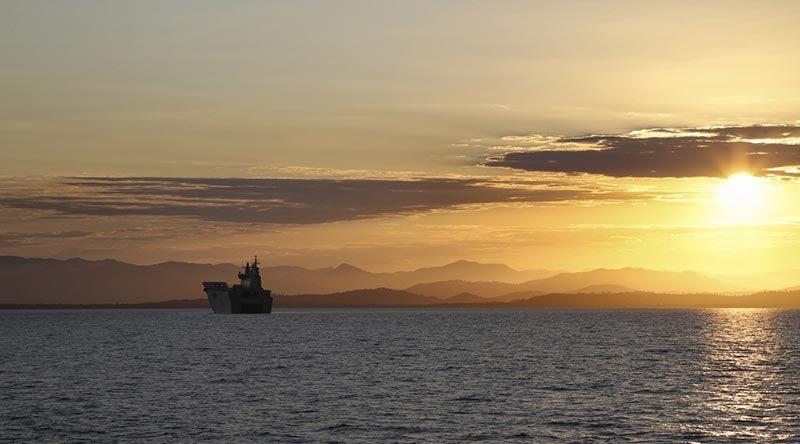 US Marines embark on HMAS Adelaide –CONTACT editor vomits