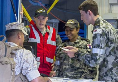 US Marines embark on HMAS Adelaide –CONTACT editor smiles