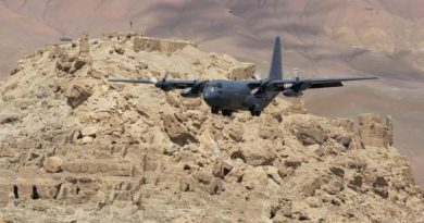 File photo – NZAF C-130 Hercules coming in to land at Bamyan Airfield, Afghanistan.