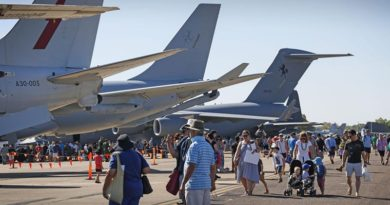 Members of the public walk around aircraft at the Exercise Pitch Black 2016 Open Day at RAAF Base Darwin. Photo by Corporal Casey Gaul