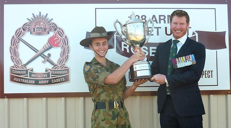 Keighran VC Trophy awarded to dedicated cadet