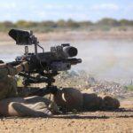 1RAR fires Mk47 lightweight automatic grenade launcher