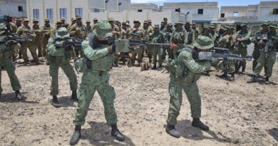 Singapore Army soldiers demonstrate urban assault techniques at Shoalwater Bay Training Area. File photo by Corporal David Cotton.