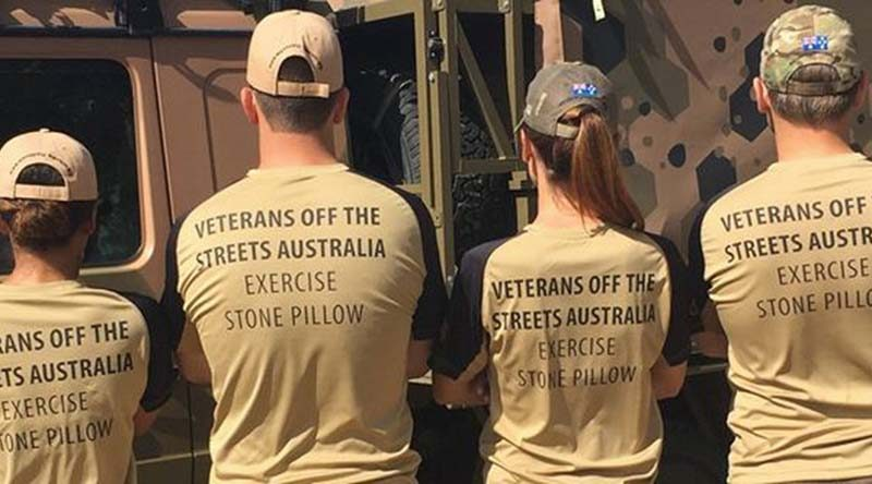 Exercise Stone Pillow 2016 – raising funds to assist homeless veterans.