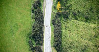 Inland Road, about 39km south-west of Kaikoura, suffered extensive damage from the earthquake. RNZDF photo.