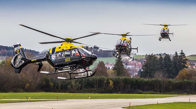 Australian EC135T2+ in flight in Germany. © Copyright Airbus Helicopters, Christian Keller.