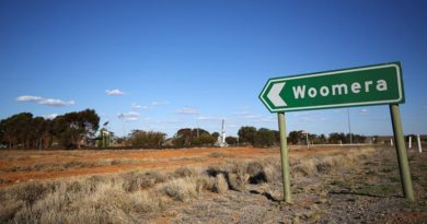 Welcome to Woomera. Photo by Corporal Nick Wiseman