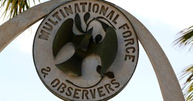 A Multinational Force and Observers remembrance arch at North Camp in the Sinai. Mid Caption: Twenty-five Australian Defence Force (ADF) members working under Operation Mazurka are assisting the Multinational Force and Observers (MFO) in the Sinai, Egypt. The MFO is a non-UN organisation established in 1981 to oversee long-standing peace agreements in the region. The MFO is maintained by 11 nations including Australia, New Zealand, the United States, Canada, Fiji and France. Australia's involvement in the MFO began in early 1982 with the formation of an Australia-New Zealand combined helicopter squadron. ADF members assist in the peace process by monitoring the border, preparing daily operational briefings and supporting the Headquarters.