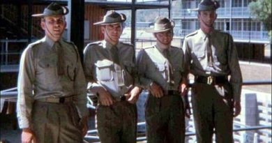 Killer, me, Ian C and Digger. Lavarack Barracks, Townville 1969