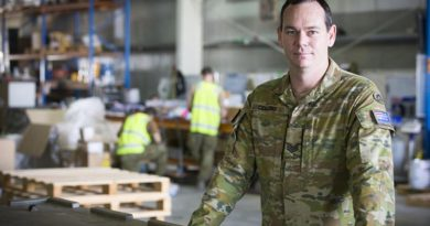 Sergeant Matthew Collins, a warehouse supervisor with Force Support Element 5, is looking forward to coming home when FSE6 arrives. Photo by Corporal Bill Solomou.
