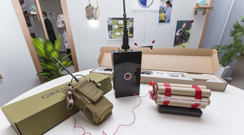 The Redwing suite of counter-IED devices, developed by DST Group, has won the inaugural Public Sector Innovation Award from the Institute of Public Sector Administration Australia (IPAA) during a small ceremony, held in Canberra, 27 July 2016. Photo by Laura Larking.