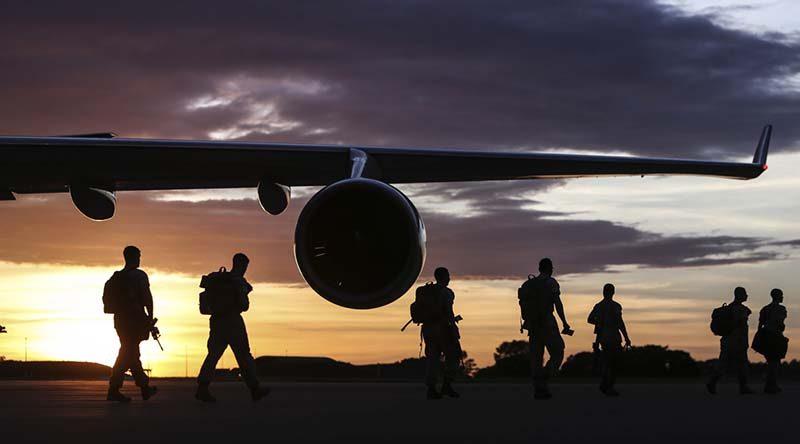 2016 FILE PHOTO: United States Marine Rotational Force - Darwin arrive at Darwin Airport. Photo by Able Seaman Kayla Hayes.
