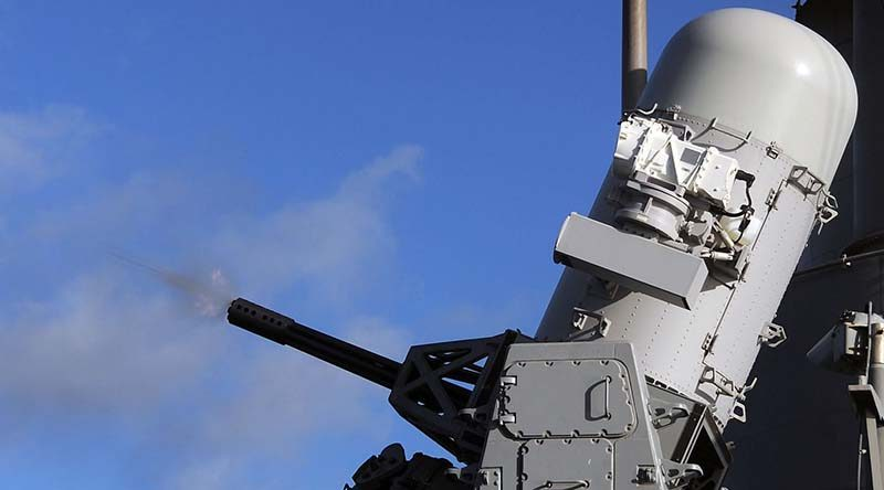 FILE PHOTO: MK-15 Phalanx CIWS aboard the guided-missile cruiser USS Philippine Sea. US Navy photo by Mass Communication Specialist 3rd Class Nicholas Hall.