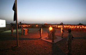 ANZAC Day Dawn Service at Talil, Iraq, 2008. Photo by Brian Hartigan.
