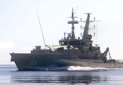 Engine fire on HMAS Maryborough at sea