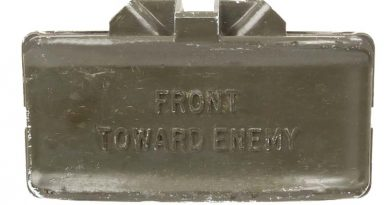 Claymore mine – front towards enemy