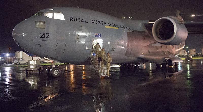New Zealand Defence Force troops from the fourth rotation to Iraq arrive home.