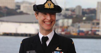 Lieutenant Commander Gray – the new commander of HMNZS Otago. Photo by Mike Millett, AirflowNZ