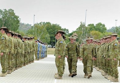 Middle-East-bound troops farewelled in Townsville