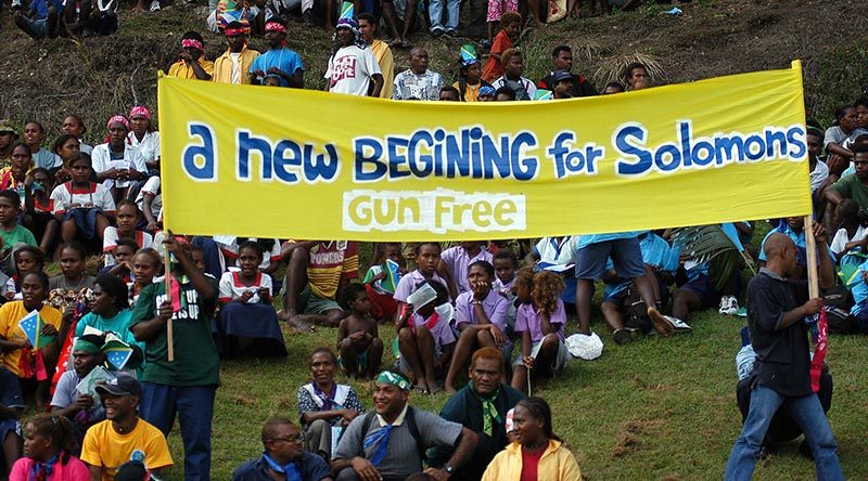 A new beginning for gun-free Solomon Islands.