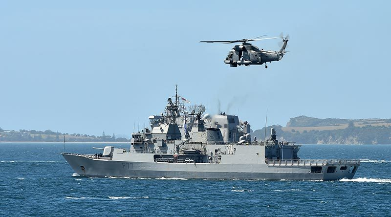 NZDF file photo HMNZS Te Kaha.