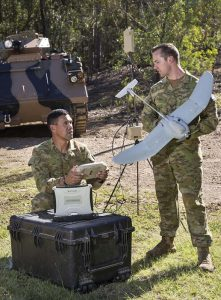 While the UAV (unmanned aerial vehicle) is one-man portable, the UAS (system) has a bit more weight to it.