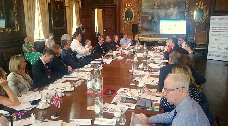 Delegates from Canada, US, UK, Australia, NZ meet in London for the International Ministerial Conference on Veterans' Issues. Photo courtesy Kent Hehr Facebook page