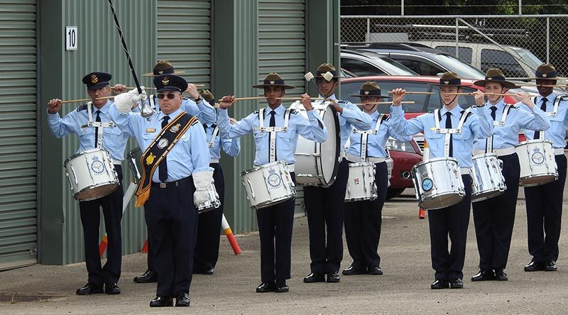 6 Wing Band led by Flight Lieutenant (AAFC) David Thompson. Image by Rick Fry.