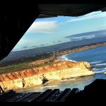 6 Wing cadets get a unique view of the limestone cliffs of Adelaide's southern coastline, looking south towards Port Willunga.