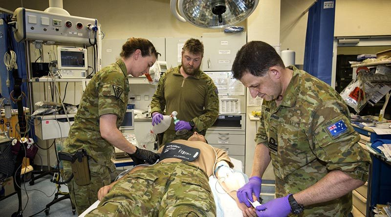 Aussie medical personnel in Kabul