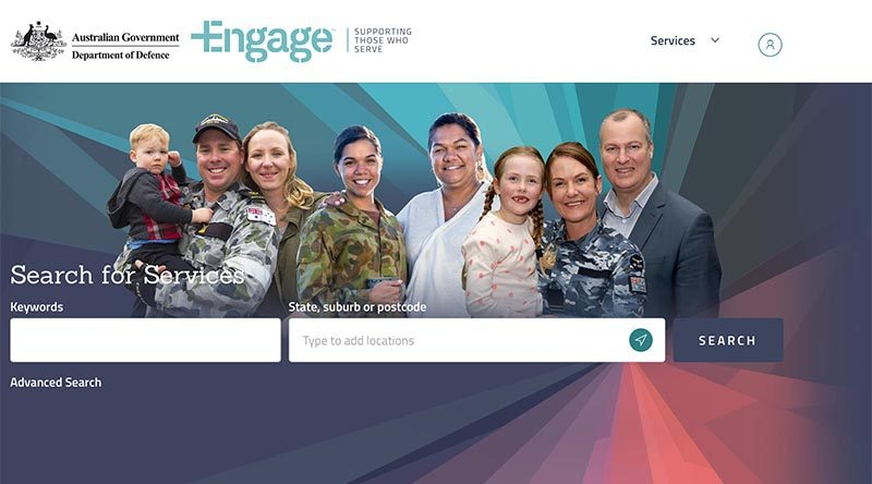 Screenshot of Engage web site