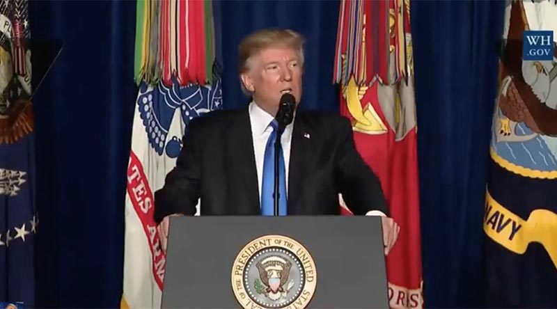 President Donald Trumps full speech on USA's new Afghan strategy
