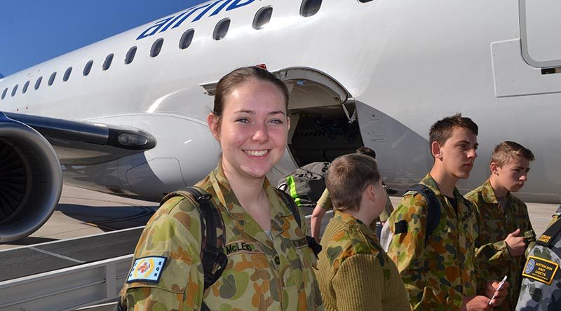 Leading Cadet Georgia McLeod at the Brisbane West Wellcamp Airport. Words and photos supplied by Public Affairs Communication Officer – LAC (AAFC) Michael Williams.