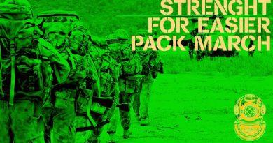 Get stronger for easier pack marching