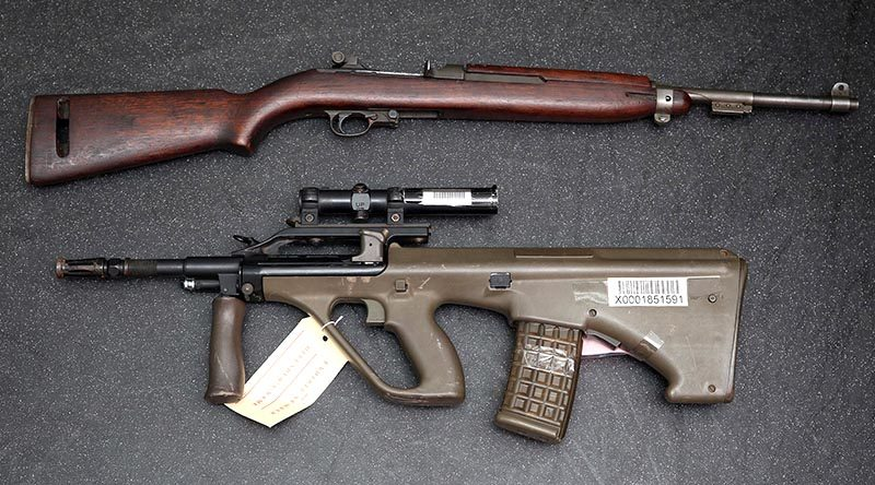An F88 Austeyr rifle was among a large number of weapons surrendered to NSW Police during the 2017 National Firearms Amnesty. NSW Police photo.